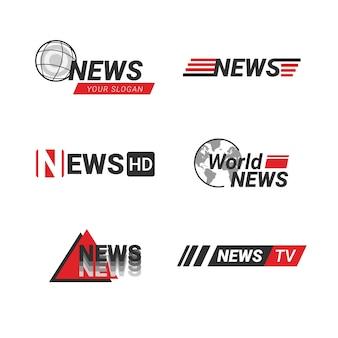 Ensemble de logo de nouvelles