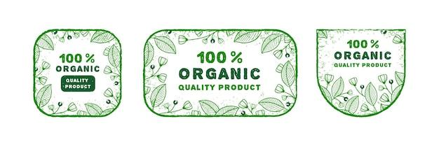 Ensemble de logo organique dessiné à la main avec un style différent