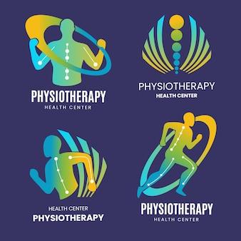 Ensemble de logo de physiothérapie dégradé