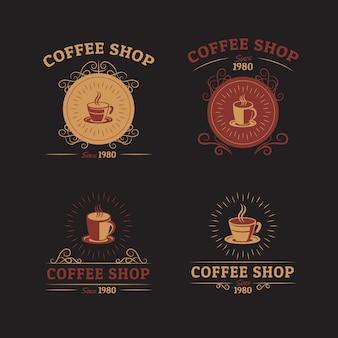 Ensemble de logo rétro café