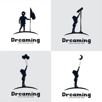 Ensemble de logo de rêve pour enfants