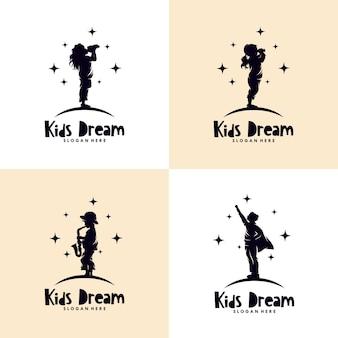 Ensemble de logo de rêves d'enfants