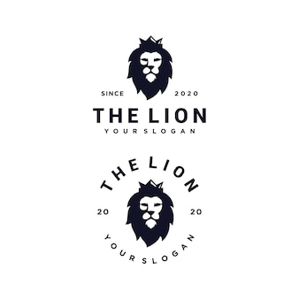 Ensemble de logo de roi lion