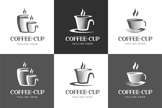 Ensemble de logo de tasse de café classique et minimaliste