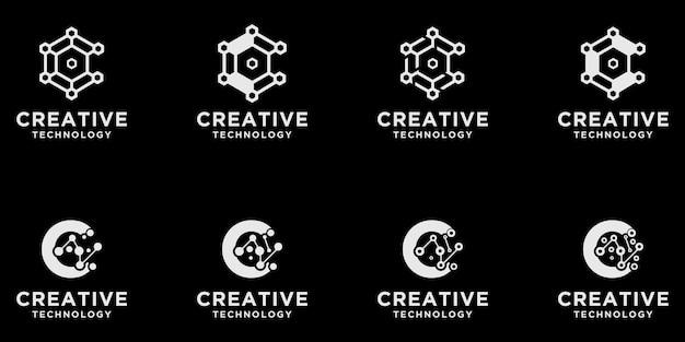 C ensemble de logo tech initial