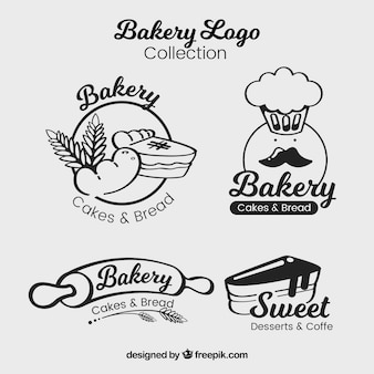 Ensemble de logos de boulangerie dans le style plat
