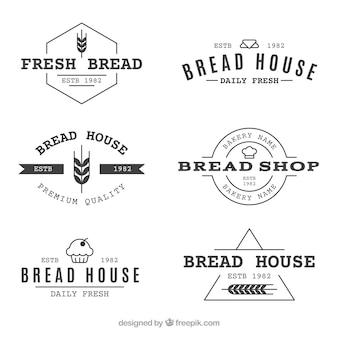 Ensemble de logos de boulangerie dans le style vintage