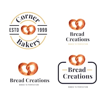 Ensemble de logos de boulangeries
