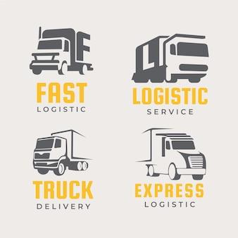 Ensemble de logos de camion design plat