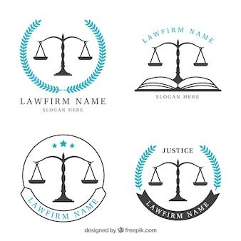 Ensemble de logos de droit