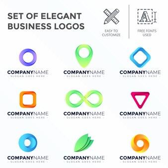 Ensemble de logos d'entreprise élégant