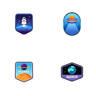 Ensemble de logos de l'espace