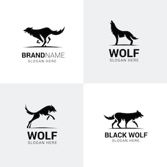 Ensemble de logos de loup