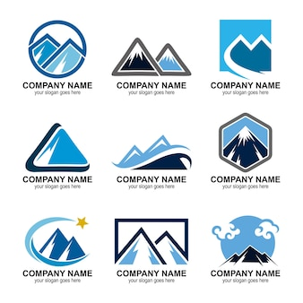 Ensemble de logos de montagne