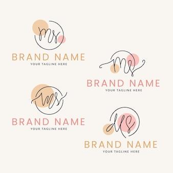 Ensemble de logos ms design plat