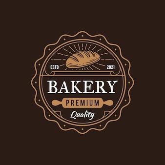 Ensemble de logos de restaurant de boulangerie