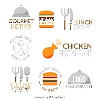 Ensemble de logos de restaurant