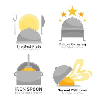 Ensemble de logos de restauration design plat