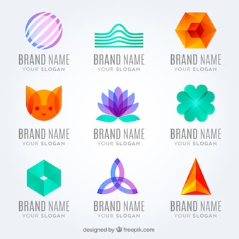 Ensemble de logotypes abstraites et modernes