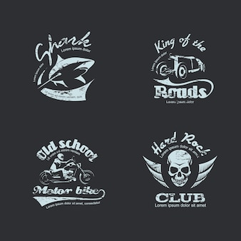 Ensemble de logotypes vintage rétro