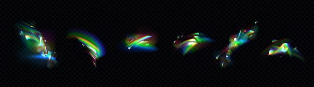 Ensemble de lumières arc-en-ciel en cristal