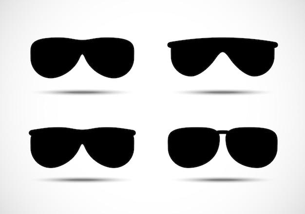 Ensemble de lunettes et lunettes de soleil icônes vectorielles.