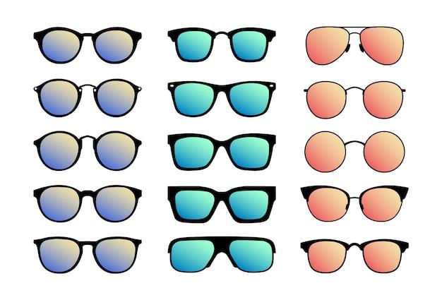 Un ensemble de lunettes de soleil. lunettes d'été.