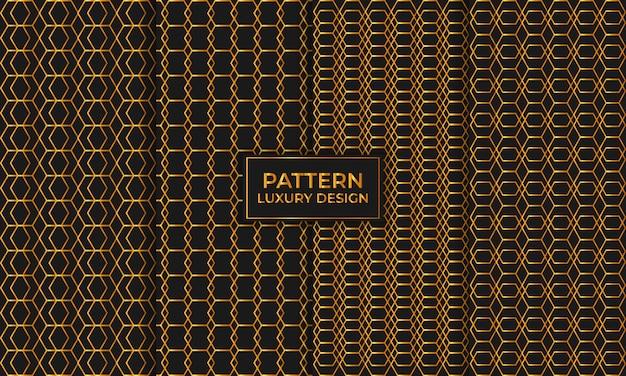 Ensemble de luxe géométrique sans couture de motif, papier peint décoratif.