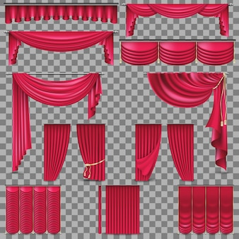 Ensemble de luxe de rideaux de soie en velours doré.