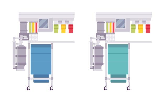 Ensemble de machines d'anesthésie