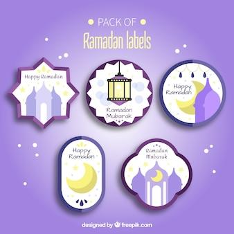 Ensemble de magnifiques autocollants de ramadan