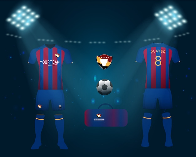 Ensemble de maillot de football ou kit de football