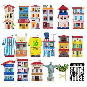Ensemble de maison d'amérique du sud