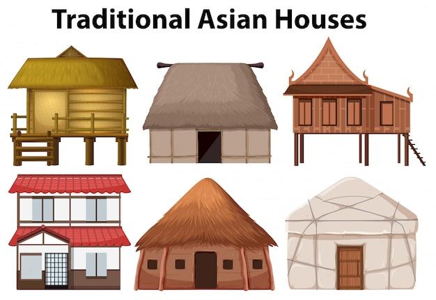 Ensemble de maison traditionnelle