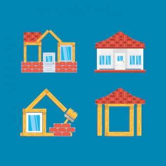 Ensemble de maisons en construction