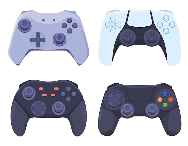 Un ensemble de manettes de jeu pour les consoles de jeux vidéo modernes