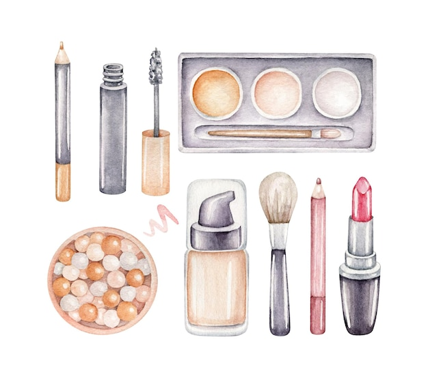 Ensemble de maquillage aquarelle