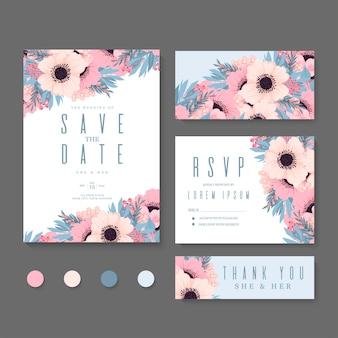 Ensemble de mariage floral