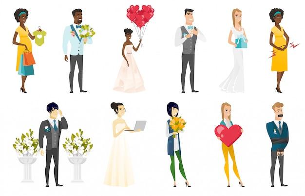 Ensemble mariée et le marié