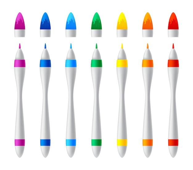 Ensemble de marqueurs colorés
