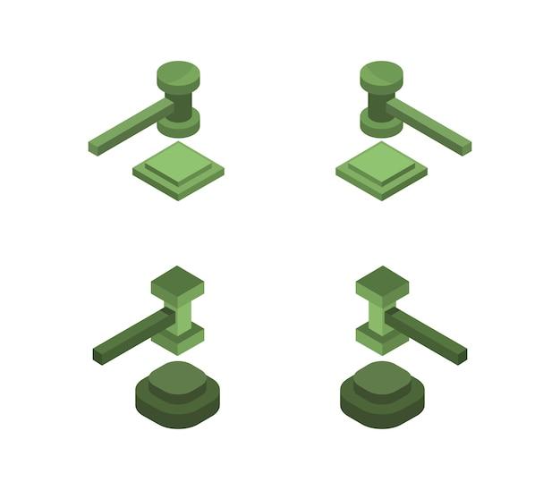 Ensemble de marteaux de juge isométrique