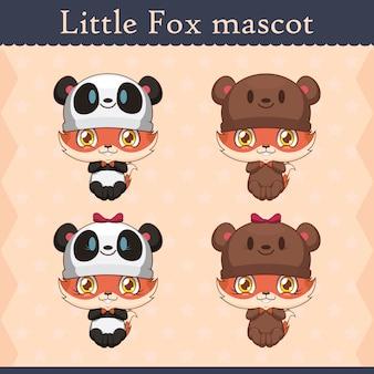Ensemble de mascotte bébé renard - ours onesie