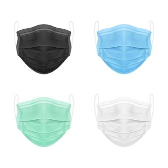 Ensemble de masque médical isolé