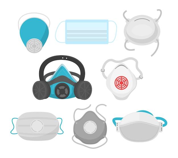 Ensemble de masque et respirateur médical isolé