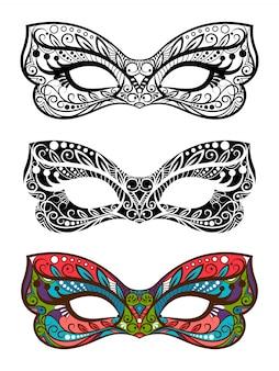 Ensemble de masques de fête