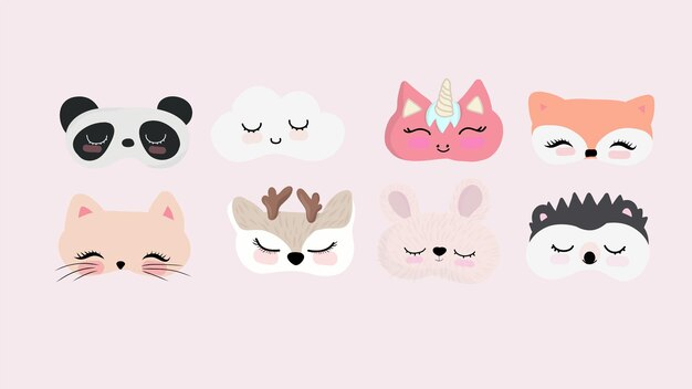 Ensemble de masques pour les yeux endormis