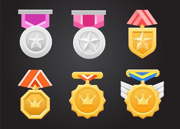 Ensemble de médailles de trophée