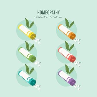 Ensemble de médecine homéopathique