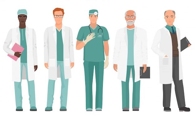 Ensemble de médecins masculins
