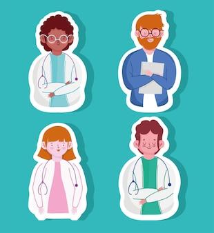 Ensemble de médecins